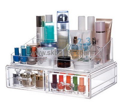 Custom Acrylic Countertop Cosmetic Beauty Makeup Storage Box Display Case  BMB 145
