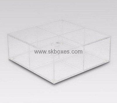 Factory Hot Selling Acrylic Storage Box With Dividers And Lid BSC 009