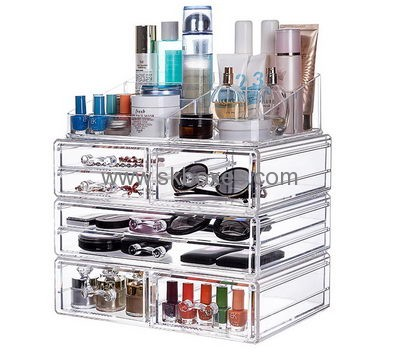 Genial Custom Acrylic Containers Professional Makeup Case Makeup Storage Box  BMB 046