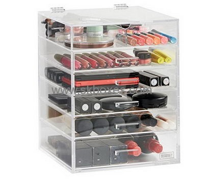 Custom Acrylic Plexiglass Cosmetic Cases Large Cheap Makeup Storage Box  BMB 178