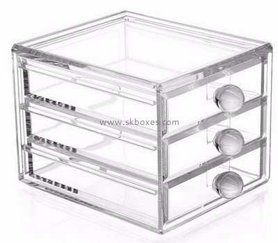 Custom design acrylic makeup box BMB-001