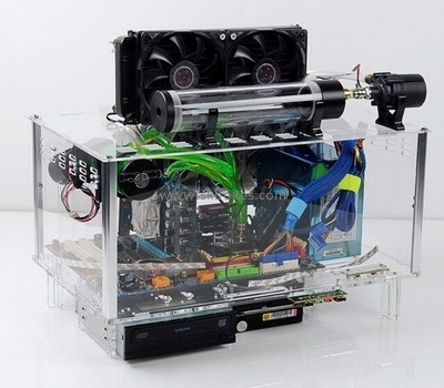 Customized acrylic computer display case BCC-003