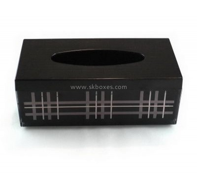 Factory custom acrylic printed tissue box BTB-007
