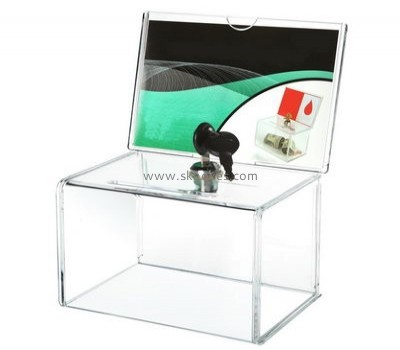 Factory direct sale clear acrylic lucky draw box BBS-004