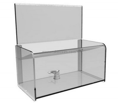 Custom design acrylic voting box with lock BBS-005