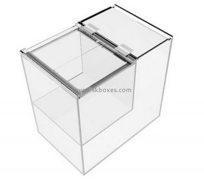 Custom design transparent acrylic plastic box for food with divider and lid BFD-010