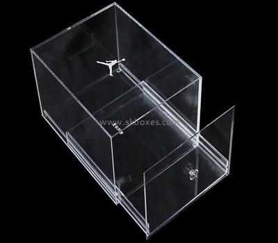 Custom deign acrylic giant shoe box with drawer BSB-010