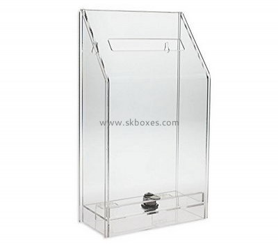 Factory customer suggestion box clear acrylic ballot box clear plastic ballot box BBS-070