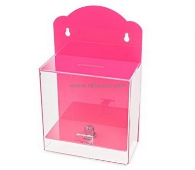 Customized acrylic election ballot box perspex ballot box voting box BBS-082