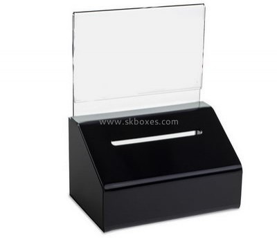 Custom design large acrylic ballot box black ballot box perspex ballot box BBS-172