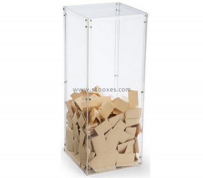 Custom acrylic cheap donation boxes fundraisingbox collection boxes for charity BDB-023