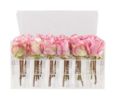 Acrylic box manufacturer custom acrylic rose in a box BDC-023
