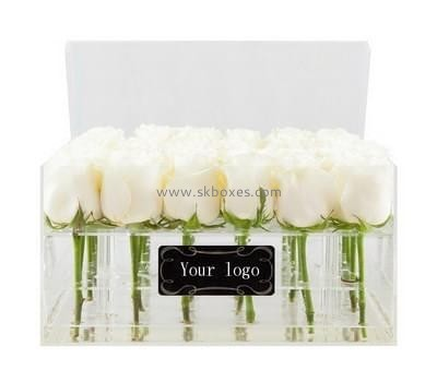 Box manufacturer custom acrylic rose flowers in a box BDC-025