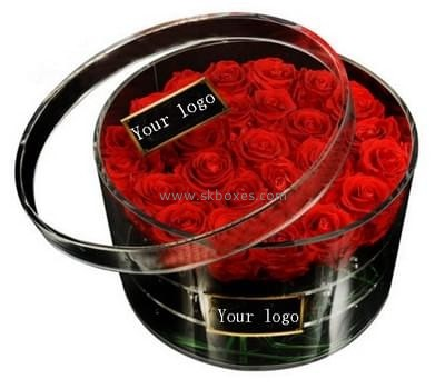 Customize round wedding flower display case BDC-1175
