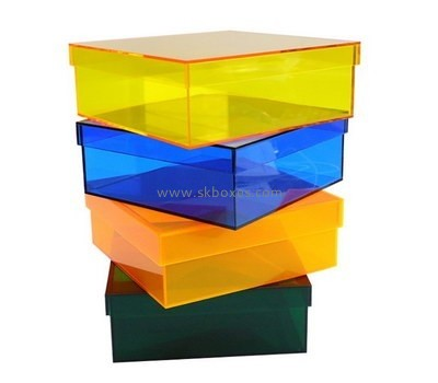 Customize acrylic clear box with lid BDC-1277