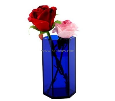 Customize acrylic purple vase BDC-1286