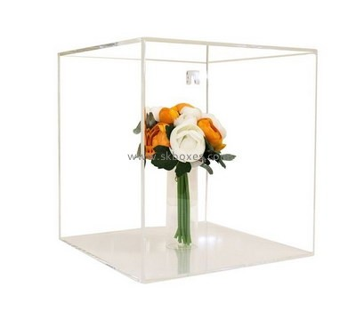 Customize lucite flower display case BDC-1319