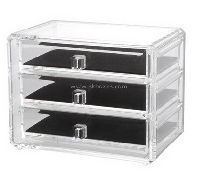 Customize lucite small organizer box BDC-1389