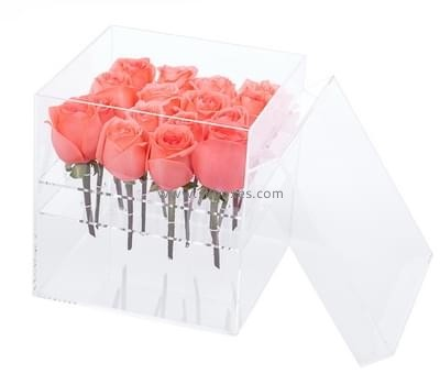 Customize acrylic flower box roses BDC-1428