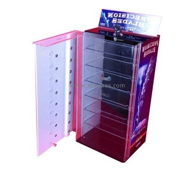 Customize lucite display cabinet with doors BDC-1497