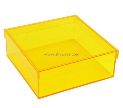 Customize acrylic container with lid BDC-1520