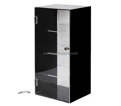 Customize acrylic tall black display cabinet BDC-1563