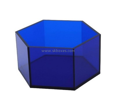 Customize acrylic hexagon gift box BDC-1586