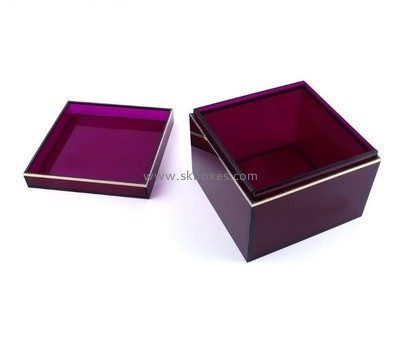 Customize acrylic storage container BDC-1590