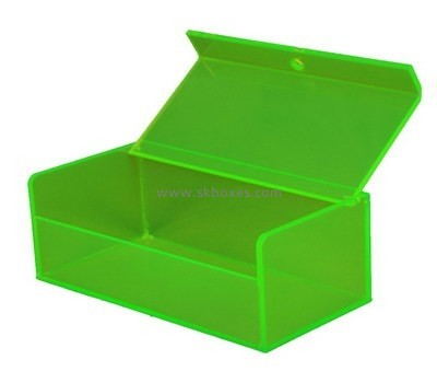 Customize green acrylic storage boxes with lids BDC-1607
