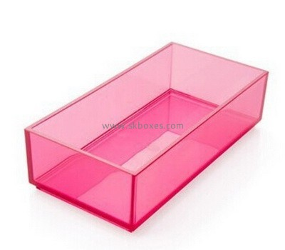 Customize pink acrylic container BDC-1612