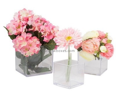 Customize acrylic table vase BDC-1625