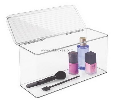 Customize clear acrylic boxes with hinged lids BDC-1634