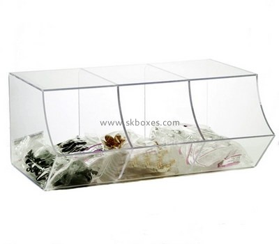 Customize plexiglass compartment display box BDC-1739
