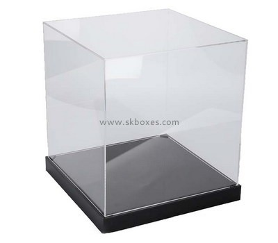 Customize acrylic retail display case with storage BDC-1741