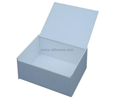 Customize acrylic small white box with lid BDC-1780