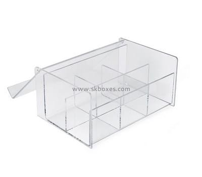 Customize perspex divided compartment box BDC-1802