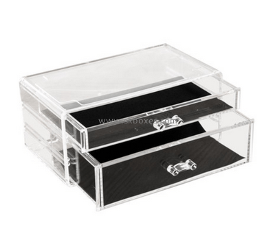 Customize acrylic 2 drawer unit BDC-1800