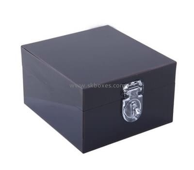 Customize black cheap acrylic boxes BDC-1804