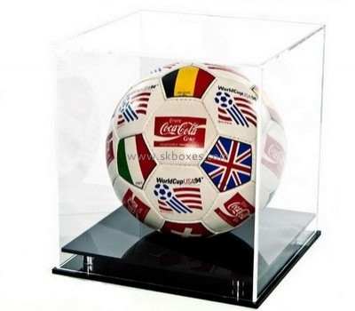 Customize plastic display case for football BDC-1814