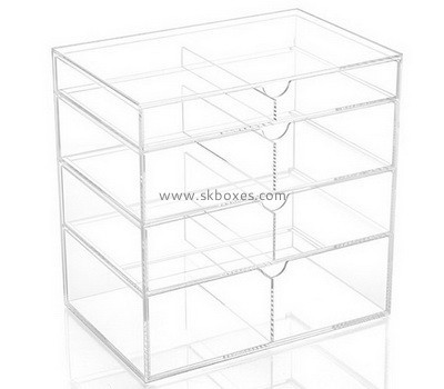 Customize plexiglass 4 drawer storage BDC-1821