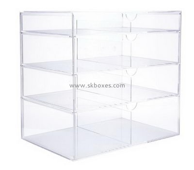 Customize plexiglass 4 drawer storage unit BDC-1843