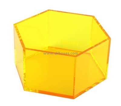 Customize perspex hexagon storage box BDC-1853
