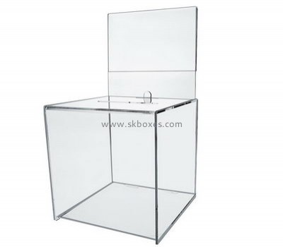 Customize acrylic donation box design BBS-597