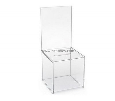 Acrylic charity boxes wholesale BBS-596