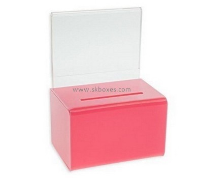 Customize acrylic donation collection boxes BBS-610
