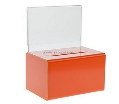 Customize acrylic fundraising collection boxes BBS-611