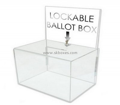 Acrylic suggestion boxes with lock BBS-627