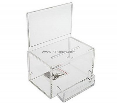 Acrylic clear suggestion box BBS-650
