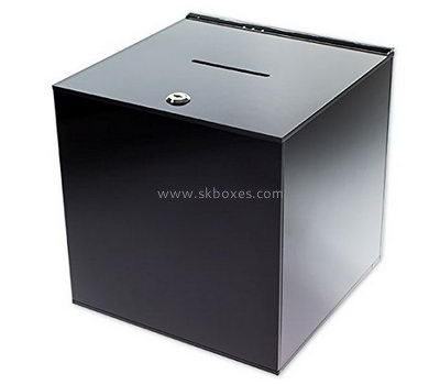 Acrylic locking ballot box BBS-652