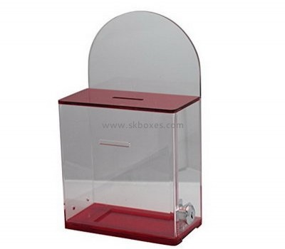 Acrylic ballot box with lock BBS-662